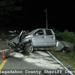 A single-vehicle crash Tuesday night on Route 127 in Woolwich, also known as Middle Road, left 47-year-old Stephen Smith of Woolwich in critical condition at Maine Medical Center.