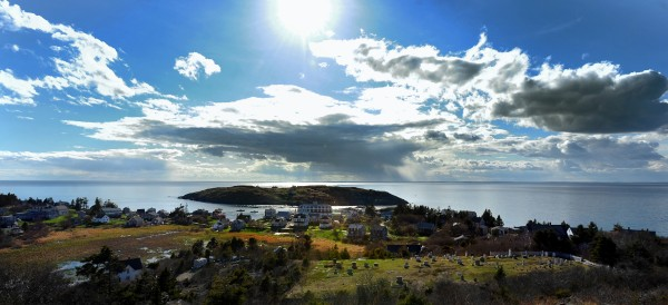 A view of Monhegan looking east from the Monhegan Lighthouse in this May 2014 file photo.