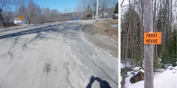 A section of Route 15 in Stonington, voted the worst road in Maine in a contest run by the Maine Better Transportation Association.