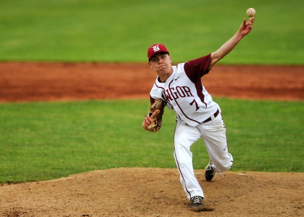 Left-hander Trevor DeLaite, pictured during the 2014 high school season, pitched a four-