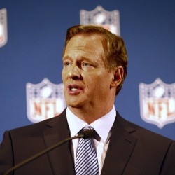 NFL Commissioner Roger Goodell addresses the media on Friday at a press conference at New York Hilton.