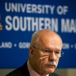 David Flanagan, the retired CEO of Central Maine Power Co. and a former University of Maine System trustee, was named the interim president at the troubled University of Southern Maine on July 23 in Portland.