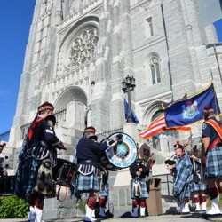 Hundreds of local, state and federal public safety personnel and their families attended the annual Blue Mass at the Basilica of Saints Peter and Paul in Lewiston on Sunday, when they were honored for their dedication and sacrifice to a life in public service and safety.