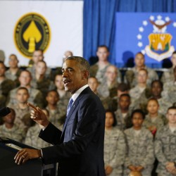President Barack Obama speaks after a military briefing on Wednesday at U.S. Central Command at MacDill Air Force Base in Tampa, Florida.