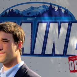 Fort Kent native Austin Theriault finished 18th in the NASCAR Nationwide Series race Saturday night in Sparta, Kentucky.