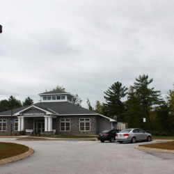 The community building at Orchard Trails in Orono.