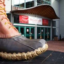 An over-sized Bean boot sits outside the L.L. Bean flagship store in Freeport in this November 2013 photo.