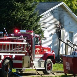 Firefighters battle a blaze on Thursday in Richmond.