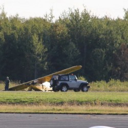 A Piper Cub plane made an amazing landing on Thursday afternoon at the Knox County Regional Airport in Owls Head.