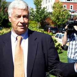 "Gubernatorial candidate Mike Michaud spoke to the press in Portland on Tuesday and said Governor Paul LePage had a ""temper tantrum"" on Monday when he said he would not appear on stage with Michaud."