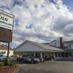 "Vacationland Inn is seen Thursday in Brewer. The inn will be featured on the Travel Channel show ""Hotel Impossible."""