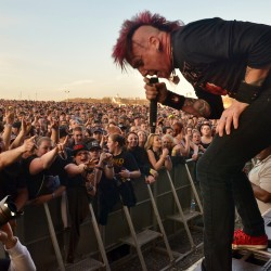 The crowd surges close to Hellyeah frontman Chad Gray in the Rise Above Fest in May at the Darling's Waterfront Pavilion in Bangor.