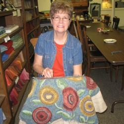 Verona rug braider provides impetus for rug hooking project using denim fabric