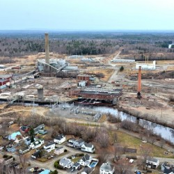 The Katahdin Avenue industrial park in Millinocket is a shell of what it was in this picture taken on May 4, 2014. The stripping down of the former mill site was part of a Great Northern Paper Co. LLC effort to revitalize the East Millinocket paper mill and start a $140 specialized pellet mill in the park.
