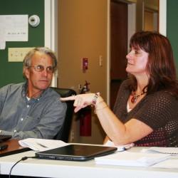 Veteran pediatrician Dr. Bob Holmberg and Maine Quality Counts Program Manager Nan Simpson