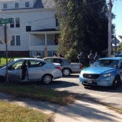State police are searching in the area of Allen Avenue and Knight Street in Portland for the people who led police on a high-speed chase.