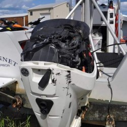 An accident in August caused the engine on the Wells harbor master's boat to catch fire, prompting the town is considering a marine rescue policy.
