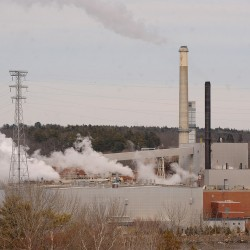 The Verso paper mill in Bucksport is shown recently.