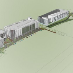This image depicts the latest version of the Midtown project proposed for Portland's Bayside neighborhood.