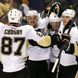 Penguins rally by Bruins in East showdown