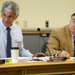 Sen. Roger Katz and Rep. Chuck Kruger call the Legislature's Government Oversight Committee into order in Augusta in this July 17, 2015, file photo.