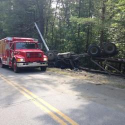 Cement truck driver injured in Danforth rollover