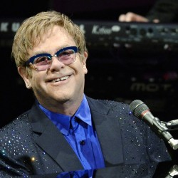 "Musician Elton John performs songs off his new album ""The Diving Board"" with USC Thornton School of Music students in Los Angeles, California in this September 16, 2013 file photo.  He's probably not set to play Bangor in June."