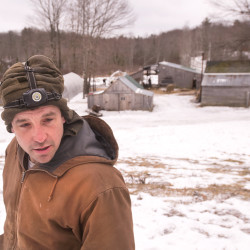 G.W. Martin has been homesteading in Montville for several years.  Marin and his wife, Bridget McKeen, and their three children live on Hogback Mountain Farm, where they keep animals and make modular greenhouses.