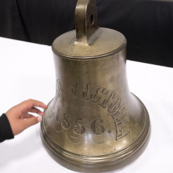 The ship's bell from the S.S. Queen Victoria was returned to the Town of Gouldsboro on Jan. 27 after it spent over a year on display at the Canadian Museum of History in Gatineau, Quebec.