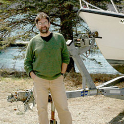 Darling Marine Center research scientist Dr. Rick Wahle at the center's campus on the Damariscotta River in Walpole.