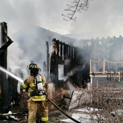 An early-morning fire gutted a house on Bradley Road in Vassalboro on Friday.