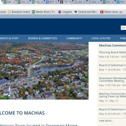 The Town of Machias has gone into cyberspace, launching its first website — machiasme.org — on April 22, according to Town Manager Christina Therrien.