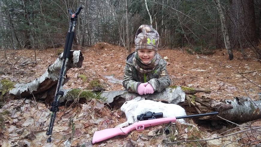 A Maine six-year-old's love for rabbit hunting, in her words