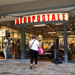 A customer enters an Aeropostale store in Broomfield, Colorado, May 14, 2015.
