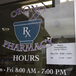 The Orono Pharmacy on Wednesday.