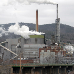 The paper mill in Rumford is seen recently.