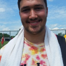 Orono High School's Jake Koffman won all three throwing events at the PVC Small School Track Championships Saturday at Dover-Foxcroft.