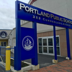 The central offices of Portland Public Schools on Cumberland Avenue.