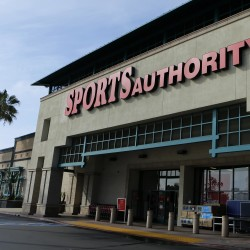 A Sports Authority store is shown in Encinitas, California on March 2, 2016.