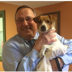 "The Greater Androscoggin Humane Society posted a picture on Facebook, saying the governor adopted a new ""first dog"" named Veto."