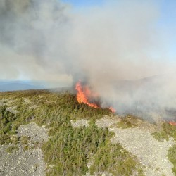 The Maine Forest Service over the weekend has been battling a roughly 27-acre wildfire atop Mount Abraham near Kingfield.