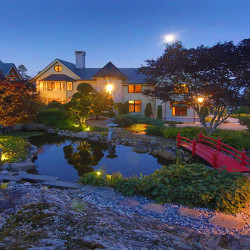 "This house at 180 Abrams Mountain Road, called ""The Froggery,"" sold at auction over the weekend for an undisclosed sum. Earlier this year, it was listed for $10.9 million, making it the most expensive house on the market in Maine."