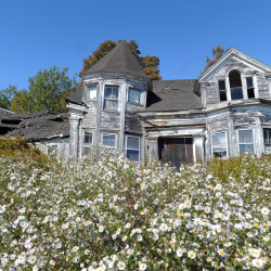This 1800s seacaptain's house in Searsport, which has dereriorated badly over the last few decades, can be seen in this September 2014 file photo.  It is one of the most photographed abandoned homes in the state.