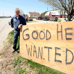 Pete Waterman of Waterman Farms in Sabattus posted a help-wanted sign along Route 126 in front of his family's farm recently because he was looking for a skilled farmhand.