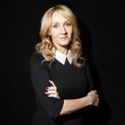 "Author J.K. Rowling poses for a portrait while publicizing her adult fiction book ""The Casual Vacancy"" at Lincoln Center in New York, Oct. 16, 2012."