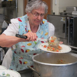 Lois Stackpole-Alley has been serving meals for the residents of the Methodist Conference Home for 46 years.