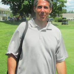 Former University of Maine pitcher Stu Lacognata was in Orono Wednesday to watch his daughter, Elizabeth, compete in the Maine Women's Amateur golf tourney at the Penobscot Valley Country Club.