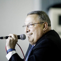Gov. Paul LePage speaks at Oxford Hills Comprehensive High School in Paris on Wednesday.