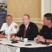 Bangor Fire Chief Tom Higgins (left), Penobscot County Sheriff Troy Morton (center) and Bangor police Deputy Chief Brad Johnston discuss public safety in the region during a Chamber of Commerce breakfast on Wednesday in Bangor.
