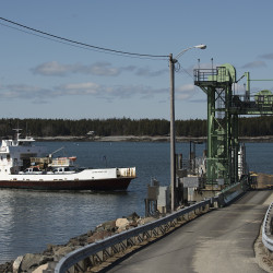 The Captain Henry Lee, a Maine State Ferry boat, arrives in Bass Harbor in an April file photo.